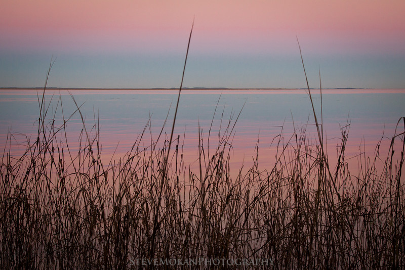 Nice simple lines- also known as the seagrass- at sunset on Papa's Island.