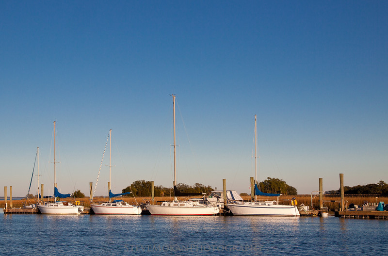 Sailboats waiting for action on Lucy Creek- just across from where Forrest Gump crashed his shrimp boat.