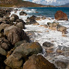 "The ""beach"" at Drunk Bay is much different than the rest of St. John, with large waves and huge boulders.  I can imagine several ships have met their fate here during a storm."