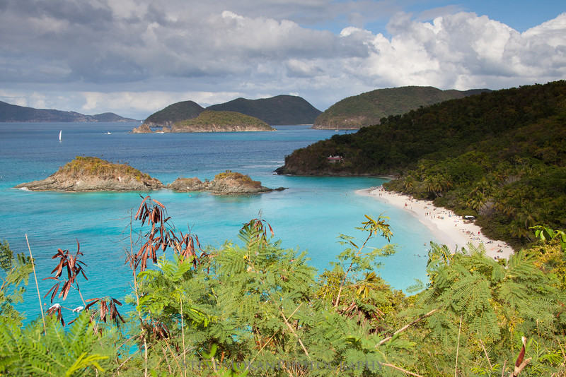 One of the more famous and popular spots on St. John, the Trunk Bay overlook.  Trunk Bay is regularly named one of the best beaches in the world.