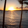 Another view of the sunset from Gallows Point on St. John.