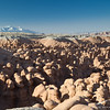 "Goblin Valley is one of our favorite places in Utah since it's in the middle of nowhere, and there are no restrictions on where you can and can't go.  It's like you're on another planet walking and climbing all through the ""goblins"".  This picture captures about 1/10th of the total number in the park."
