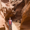 This was one of the wider sections of the slot canyon.