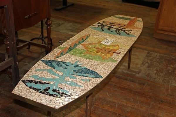 Mosaic Surfboard Table
