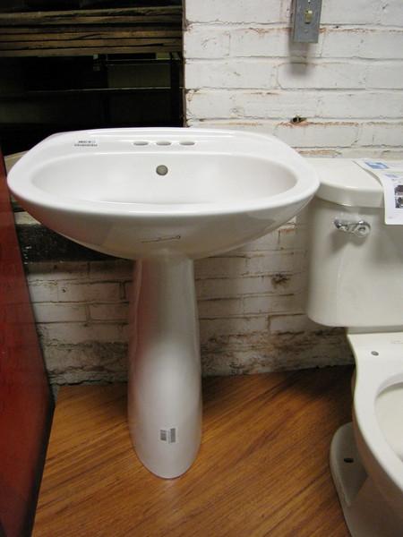 New pedestal sinks: $100