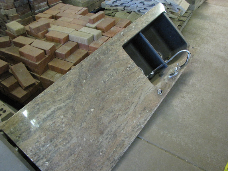 granite counter with sink $100