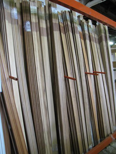 new stain-grade hardwood molding: $60-$80 per pack (40 lin ft)