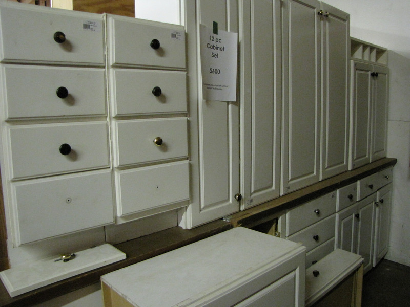 12 piece cabinet set: $600