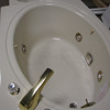 jet tub with motor and fixtures: $350