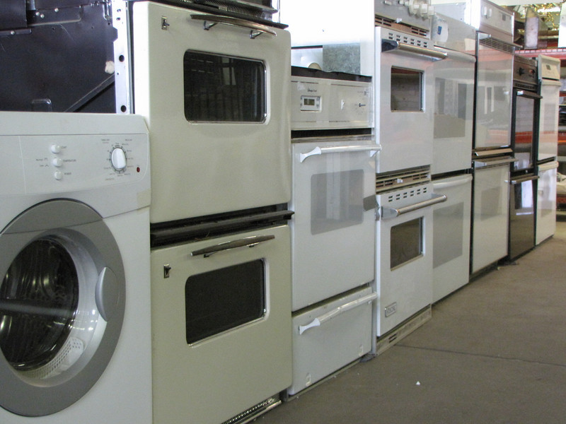 New Whirlpool electric dryer (left): $100<br /> variety of ovens: $40-$500