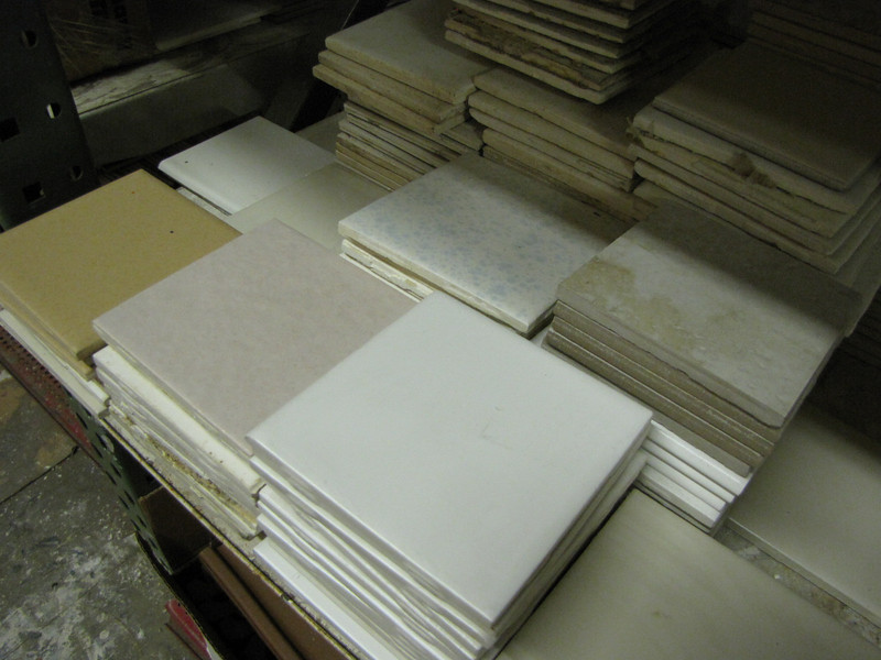 """a tiny fraction of our by-the-piece tile selection<br /> 4x4"""" : $0.10 each"""