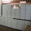 Like New 16 PC White Cabinet Set with Knobs and Pulls - $1200.<br /> Won't last long!