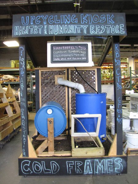 Available now for order: Rain Barrels ($50), Compost Tumblers ($50) and Cold Frames ($25-$45). Stay tuned to our site for information on Cold Frame Demonstrations coming this winter.<br /> Orders for the Upcycling Items can be placed in-store or by emailing eric@habitatstl.org for more information.
