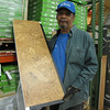 New cork floating flooring: $2.25/sq ft ($54/box)<br /> (Mike usually smiles.)