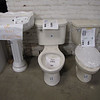 New low-flow toilets ($75-$85) and pedestal sinks ($100)