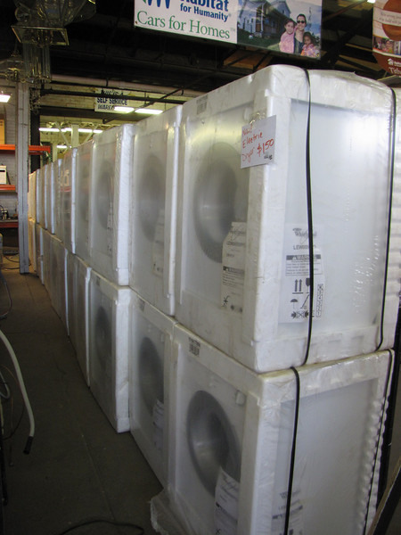 New Whirlpool apartment-sized electric dryer: $150 (many in stock)