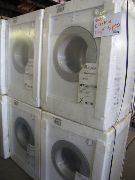 New Whirlpool apartment-sized electric dryer: $150