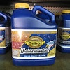 Cabot waterproof/stain: $2.50/gallon, goldenrod color