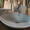 new vessel sink with faucet: $185