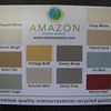 """available in 12 pre-mixed, flat-finish colors<br /> <br /> Amazon recycled content paint: $16/gal, $55 five gallon bucket<br /> <br /> find more info on our blog: <a href=""""http://www.habitatstl.org/newsevents/news/2010/07/23/restore-now-sells-recycled-paint/"""">http://www.habitatstl.org/newsevents/news/2010/07/23/restore-now-sells-recycled-paint/</a>"""