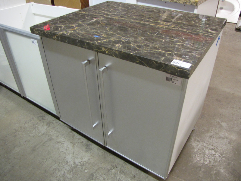 new vanity cabinet with counter top: $250