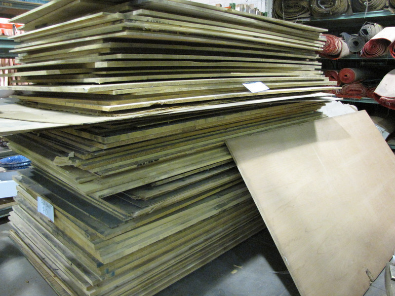 4x8 sheets, various kinds and thicknesses: $10 per sheet