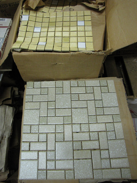 """12x12"""" mosaic tiles (variety of colors available): $1 per tile"""