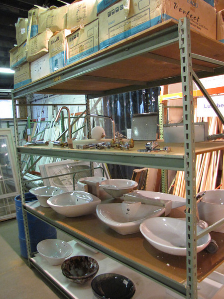 variety of new vessel sinks and faucets: $50-$250