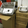 new stainless steel single bowl and bar sinks: $50 and $25
