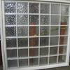 faux glass block window: $200