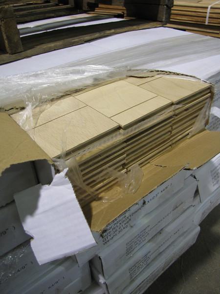 boxes of new engineered hardwood flooring (maple), 36.61 sq ft per box: $80 per box