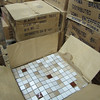 "12x12"" mosaic tile, variety of colors:  $1.25/tile or $30 for box of 30"