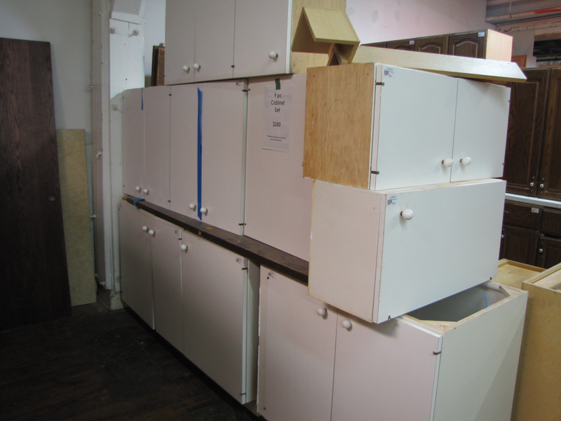 9 piece cabinet set: $350
