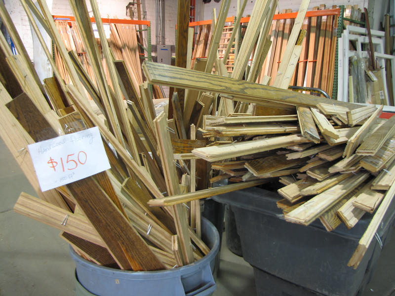"""hardwood flooring, recently removed from a ReStore deconstruction site: $150 for approximately 150 sq ft<br /> <br /> for more information about our deconstruction program, check out our website:   <a href=""""http://www.habitatstl.org/supportus/restore/deconstruction/"""">http://www.habitatstl.org/supportus/restore/deconstruction/</a>"""