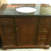 Cherry Wood Vanity with Black Granite Top