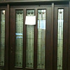 African Cherry Wood Entry Door, Threshold and Sidelights