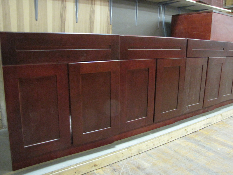 new cherry cabinets: $70 each