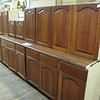 9 piece cabinet set with countertop: $500