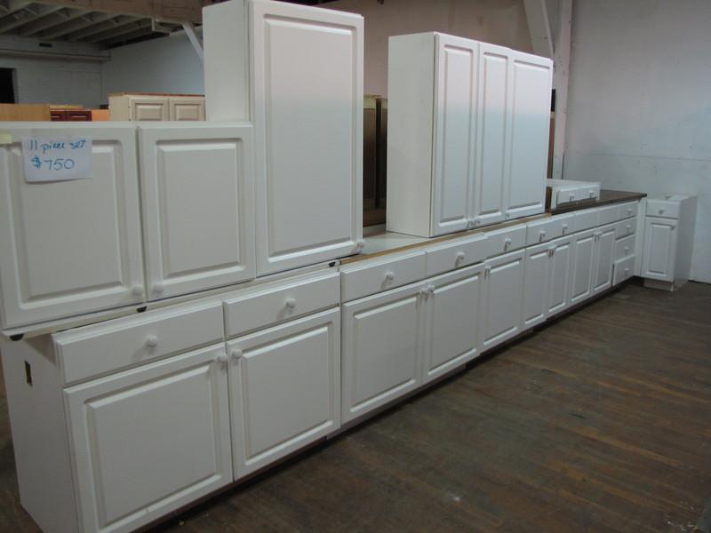 11 piece cabinet set: $750