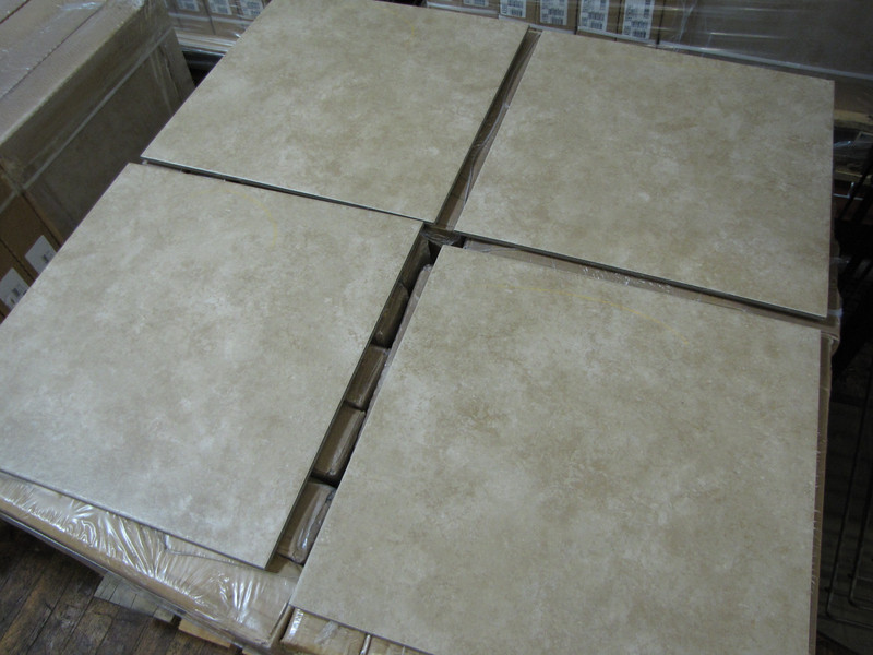 """New tile just arrived today! Four color selections, all $1 per sq ft (pictured 18""""x18"""", 8 pieces per box, $18 per box)"""