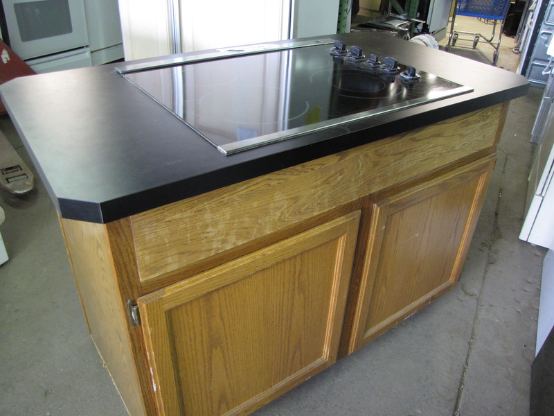 electric cooktop island: $250