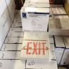 LED Emergency light / exit sign combo $25