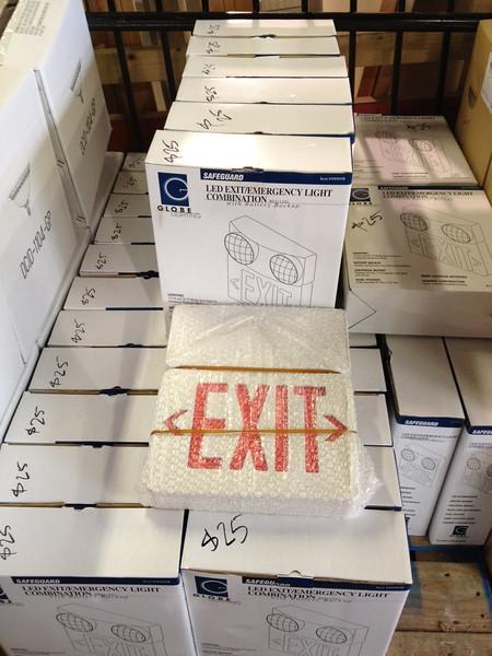 LED Emergency light / exit sign combo $25