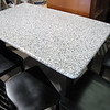 granite top table with 4 chairs: $350