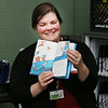 HOLLY PELCZYNSKI - BENNINGTON BANNER Audiologist Stephanie O'Flaherty reads to fourth graders on Monday morning during read across America an event held at schools country wide to celebrate the birthday of Dr. Seuss.