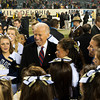 Photo courtesy of DON TOOTHAKER/toothakerphoto.com Vice President Joseph Biden celebrates with Navy cheerleaders on Saturday in Philadelphia after the Army v. Navy football game held at Lincoln Financial Field.  Army fell for the 11th straight year to Navy, 17-13.