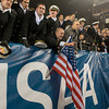 Photo courtesy of DON TOOTHAKER/toothakerphoto.com Midshipmen celebrate on Saturday in Philadelphia during the Army v. Navy football game held at Lincoln Financial Field.  Army fell for the 11th straight year to Navy, 17-13.