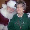 Autumn Woods Health Campus' resident Cora S with Santa<br /> <br /> Photographer's Name: Bobbie Jo  Adams<br /> Photographer's City and State: New Albany, IN