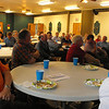 Charlestown Chamber members listen during presentation on East End Bridges project by David sikorsky (WVB East End Partners) and Ron Huestis (INDOT) at the Chamber meeting on June 20. <br /> <br /> Photographer's Name: Ronald Repp<br /> Photographer's City and State: Charlestown, IN