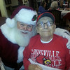 Autumn Woods Health Campus' resident Charlie E with Santa<br /> <br /> Photographer's Name: Bobbie Jo  Adams<br /> Photographer's City and State: New Albany, IN